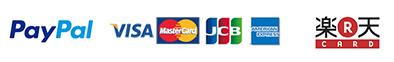PayPal visa MasterCard JCB AMERICANEXPRESS 楽天