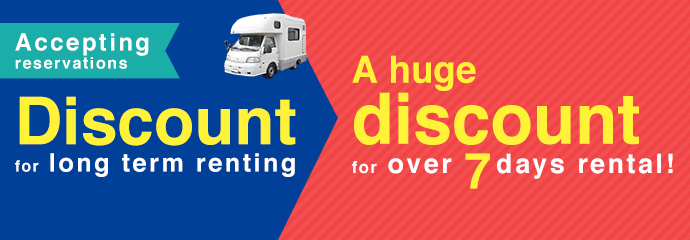Discount for long term renting. A huge discount for over 7 days rental!