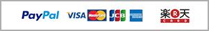 Paypal VISA MASTERCARD JCB AMERICAN EXPRESS 楽天カード